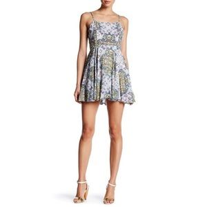 RAGA Sunset Blues Floral Print Mini Dress